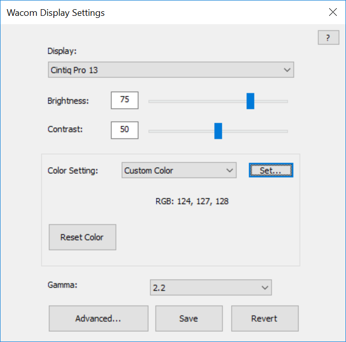 Customize Wacom Display Settings