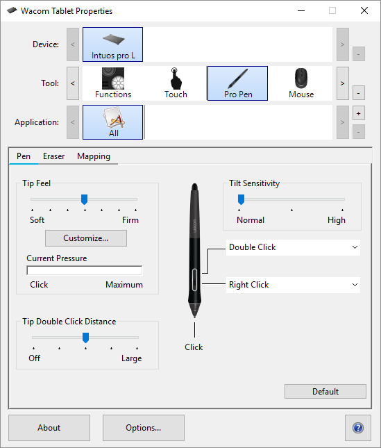 Customize your pen functions